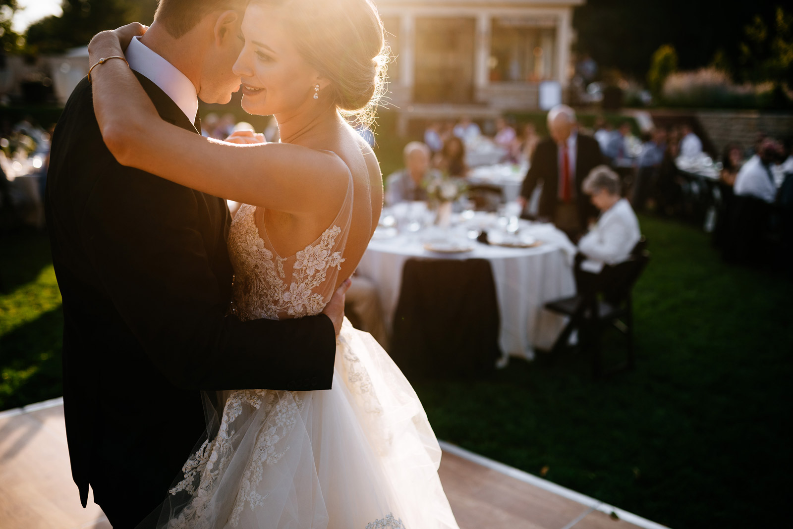 bride groom first dance zenner house wedding
