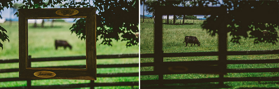 farm wedding photo details hanging picture frame