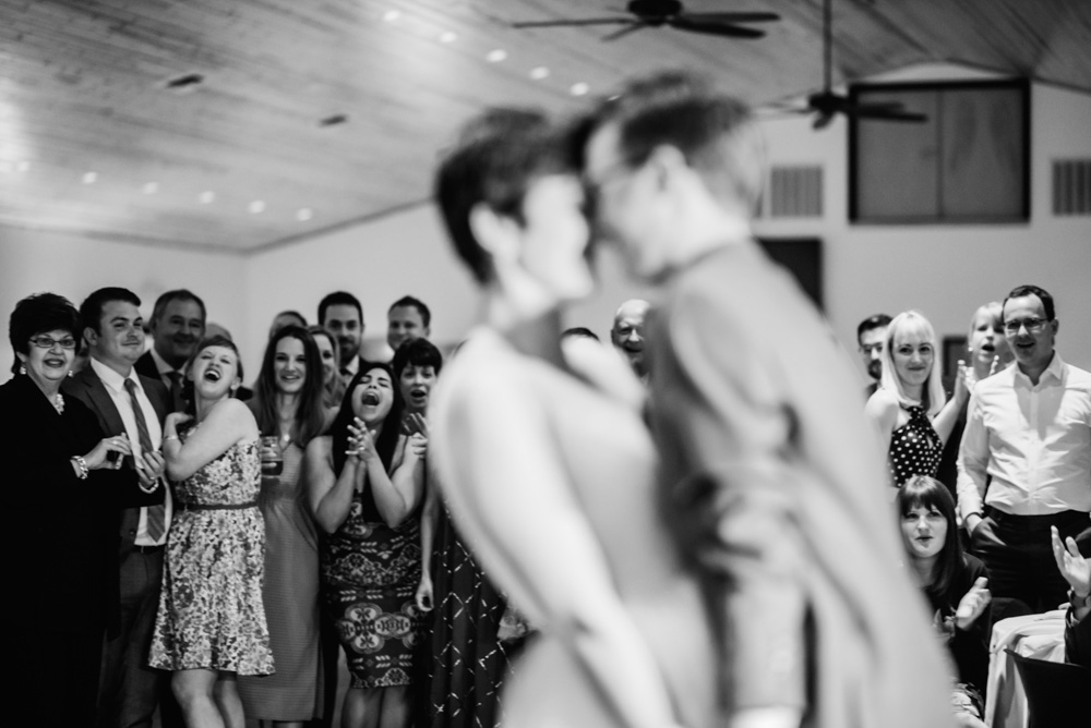 guests react to sweet first dance