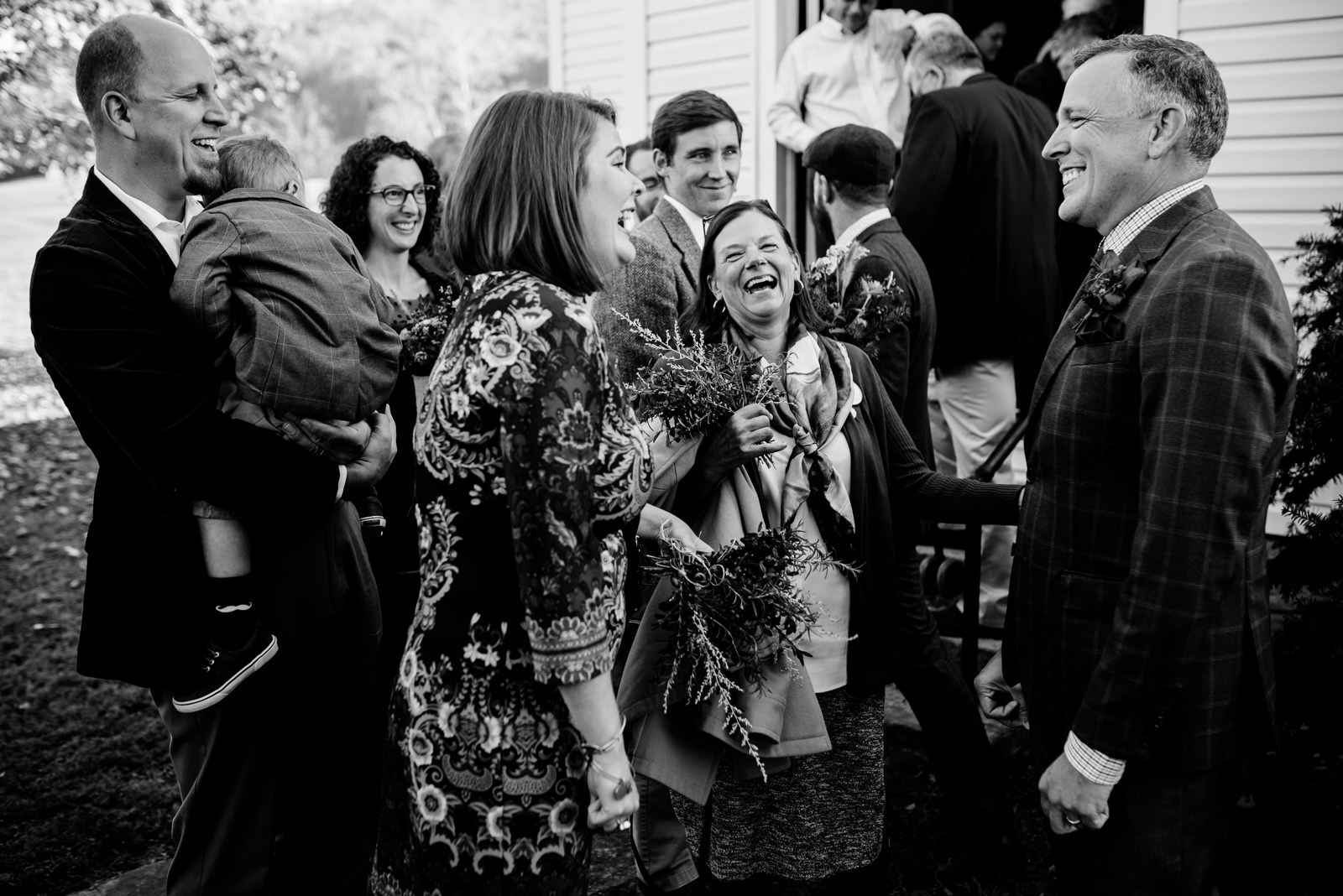 happy family after the ceremony wedding candid