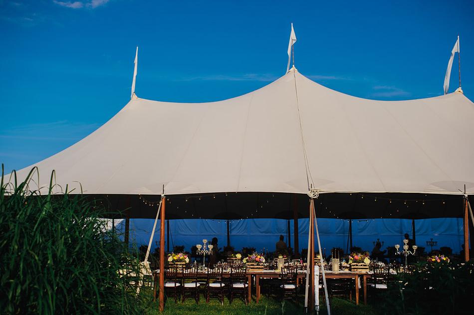 outdoor appalachian farm wedding tent