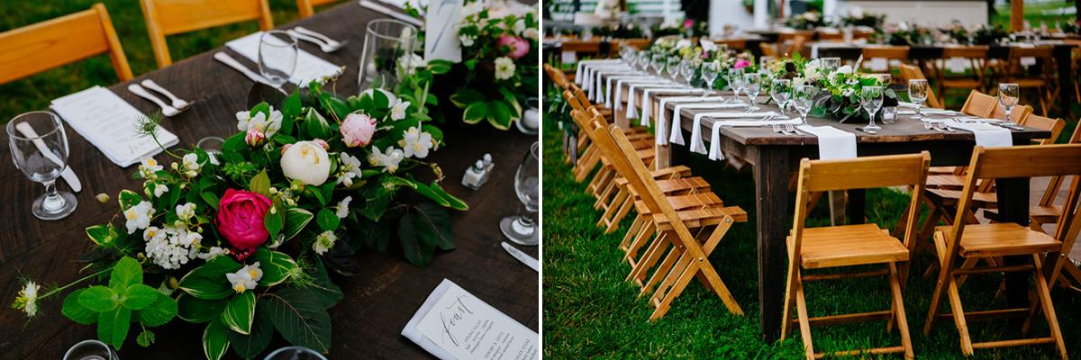 pharsalia virginia wedding tables flowers reception