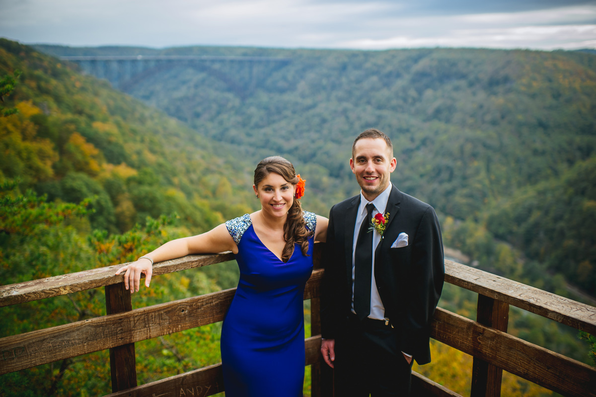 new river gorge bridge wedding portrait by best west virginia wedding photographers the oberports