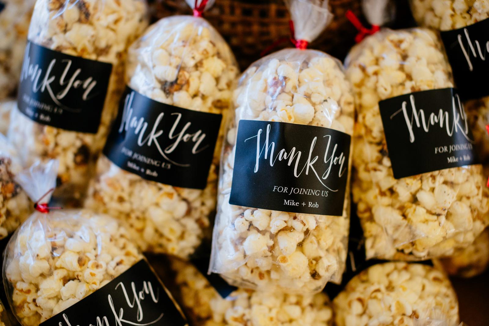 wedding favors spanglers farm organic popcorn