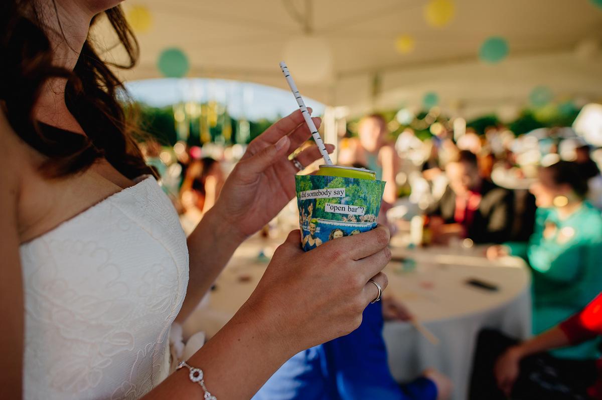 bride holding drink