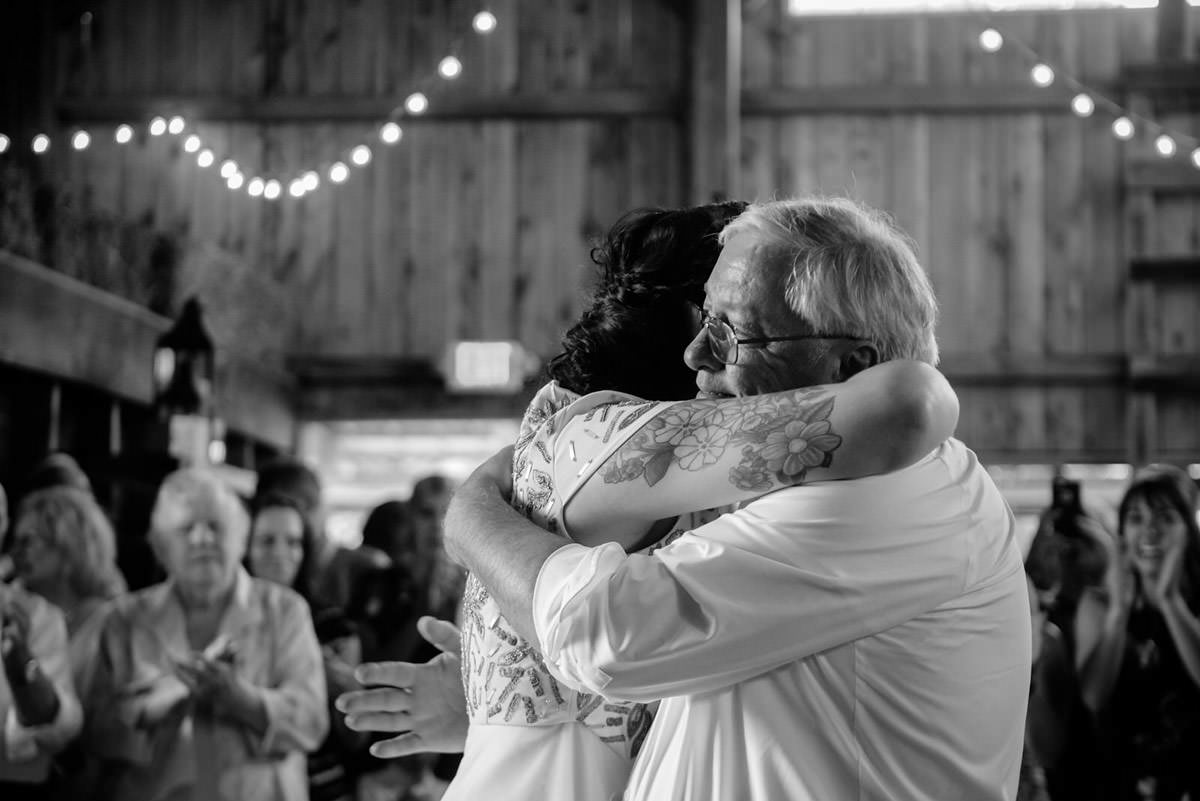 rustic acres pittsburgh wedding father daughter dance