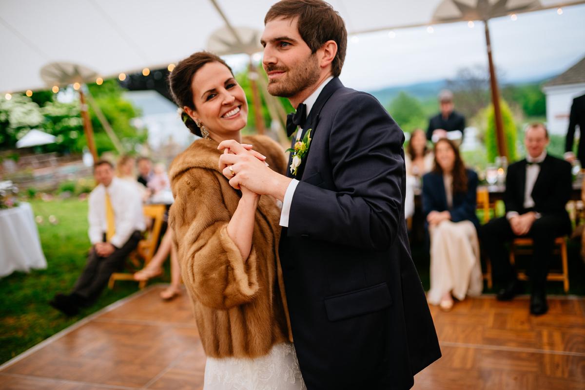 bride and groom first dance pharsalia virginia wedding