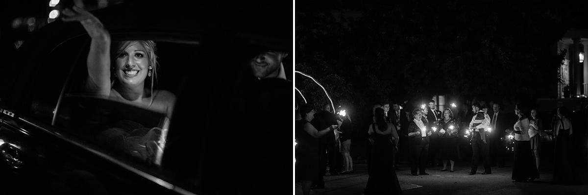 end of wedding reception