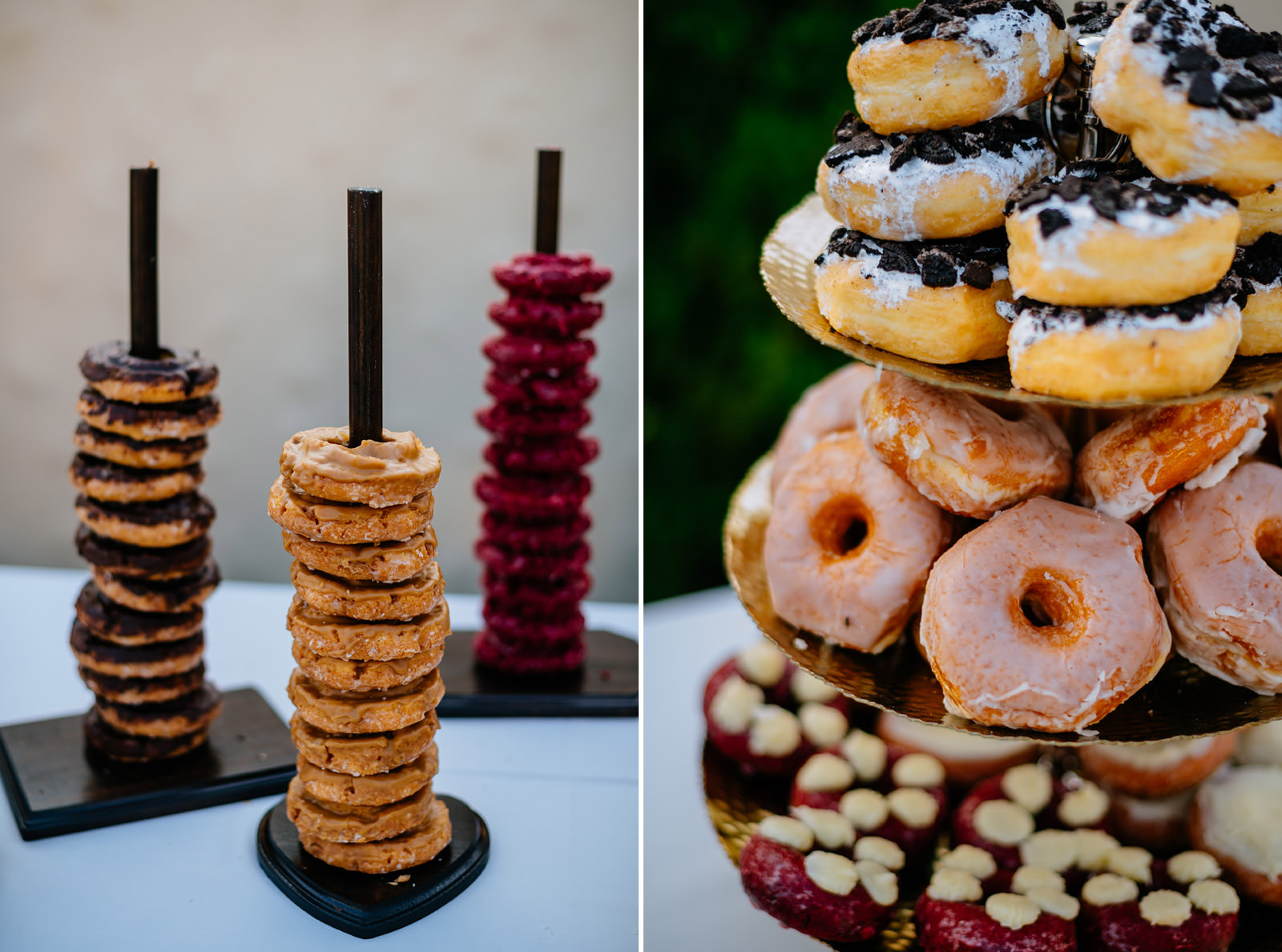 mchappys donut table athens ohio wedding