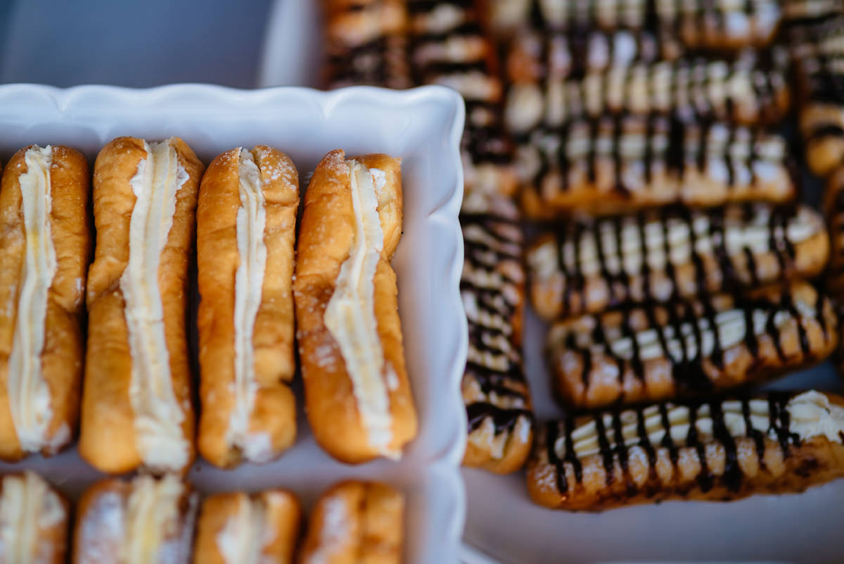 spring hill bakery hot dog pastries at a wedding