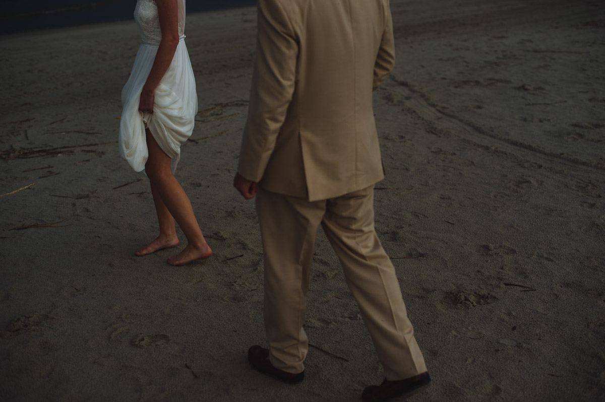 artistic beach wedding pictures
