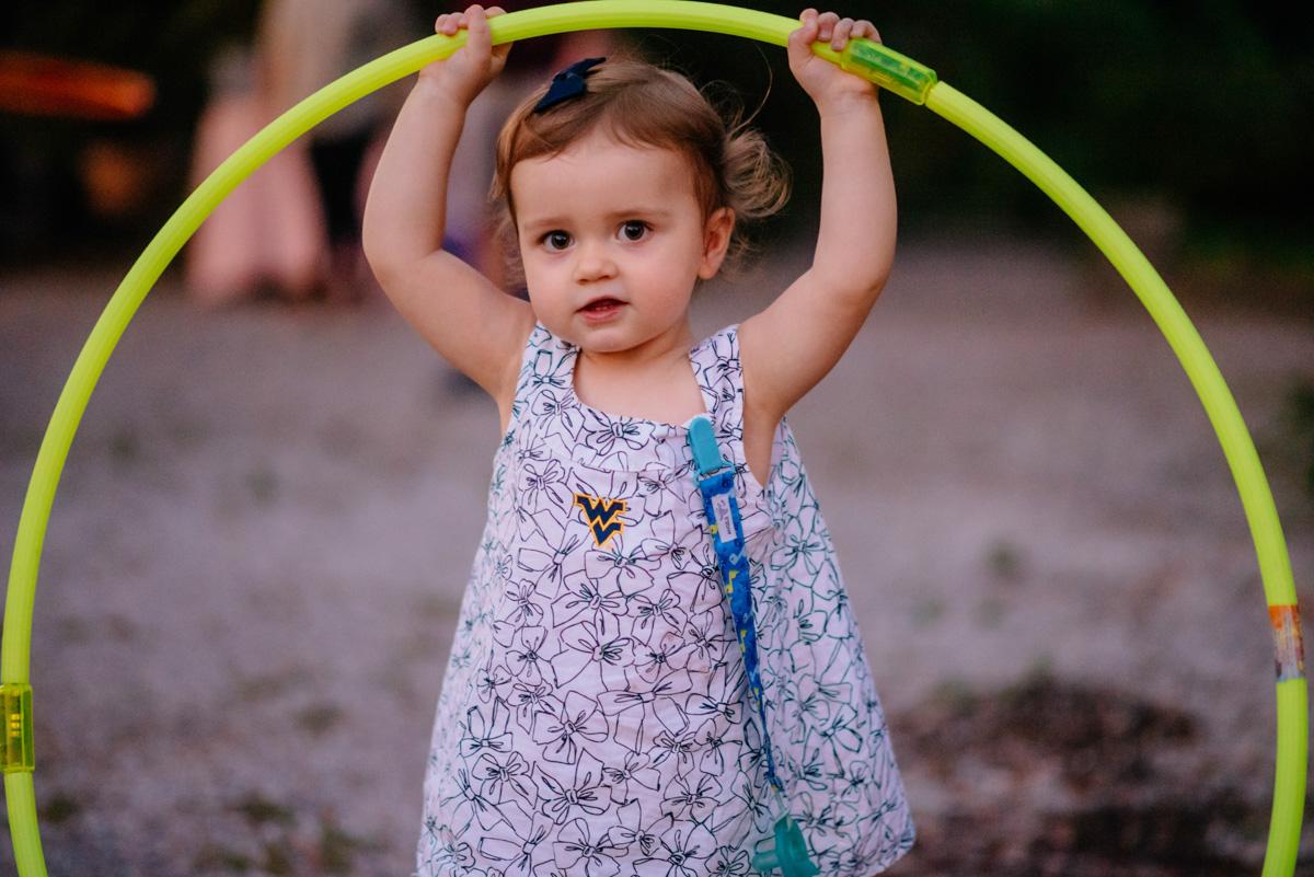 cute kid with hula hoop jq dickinson saltworks wedding reception charleston wv