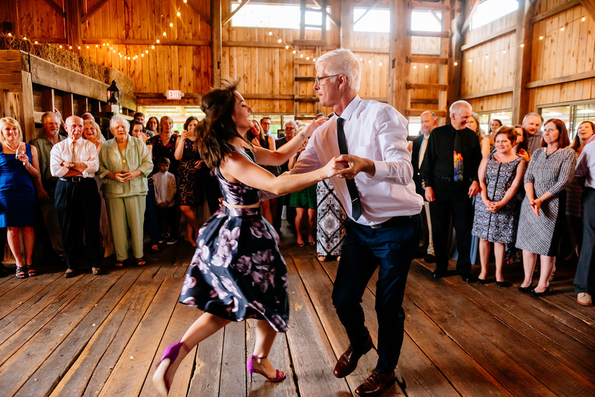 groom dances with daughter rustic acres