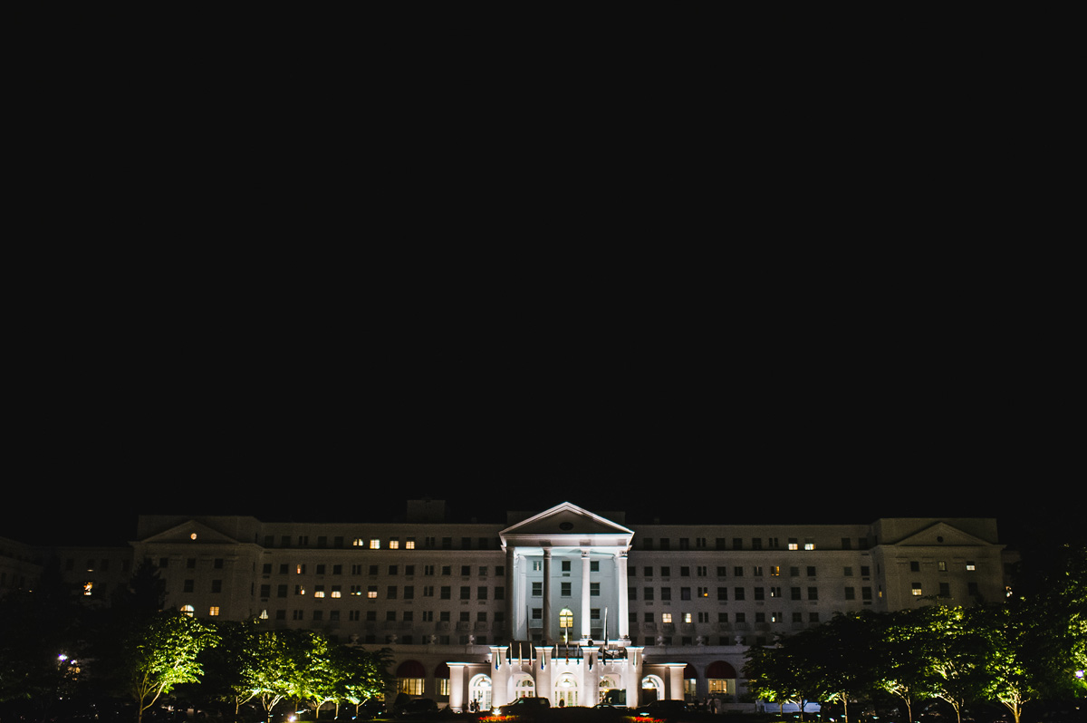 the greenbrier resort at night white sulphur springs west virginia