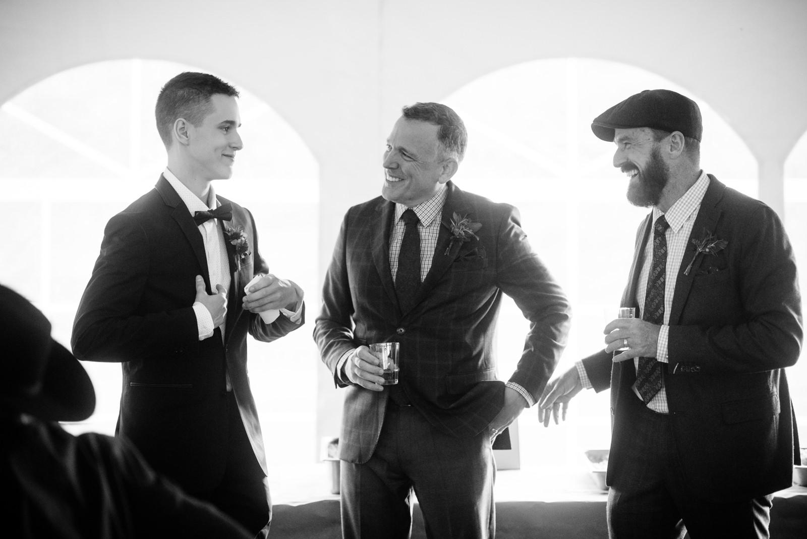 grooms son giving reception toast same sex wv farm wedding