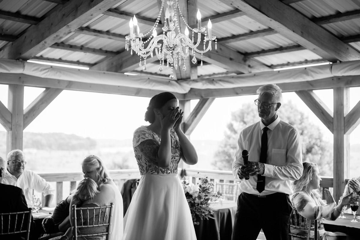 bride and groom toast pittsburgh wedding