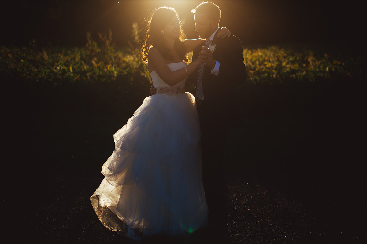 sunset first dance wedding photos