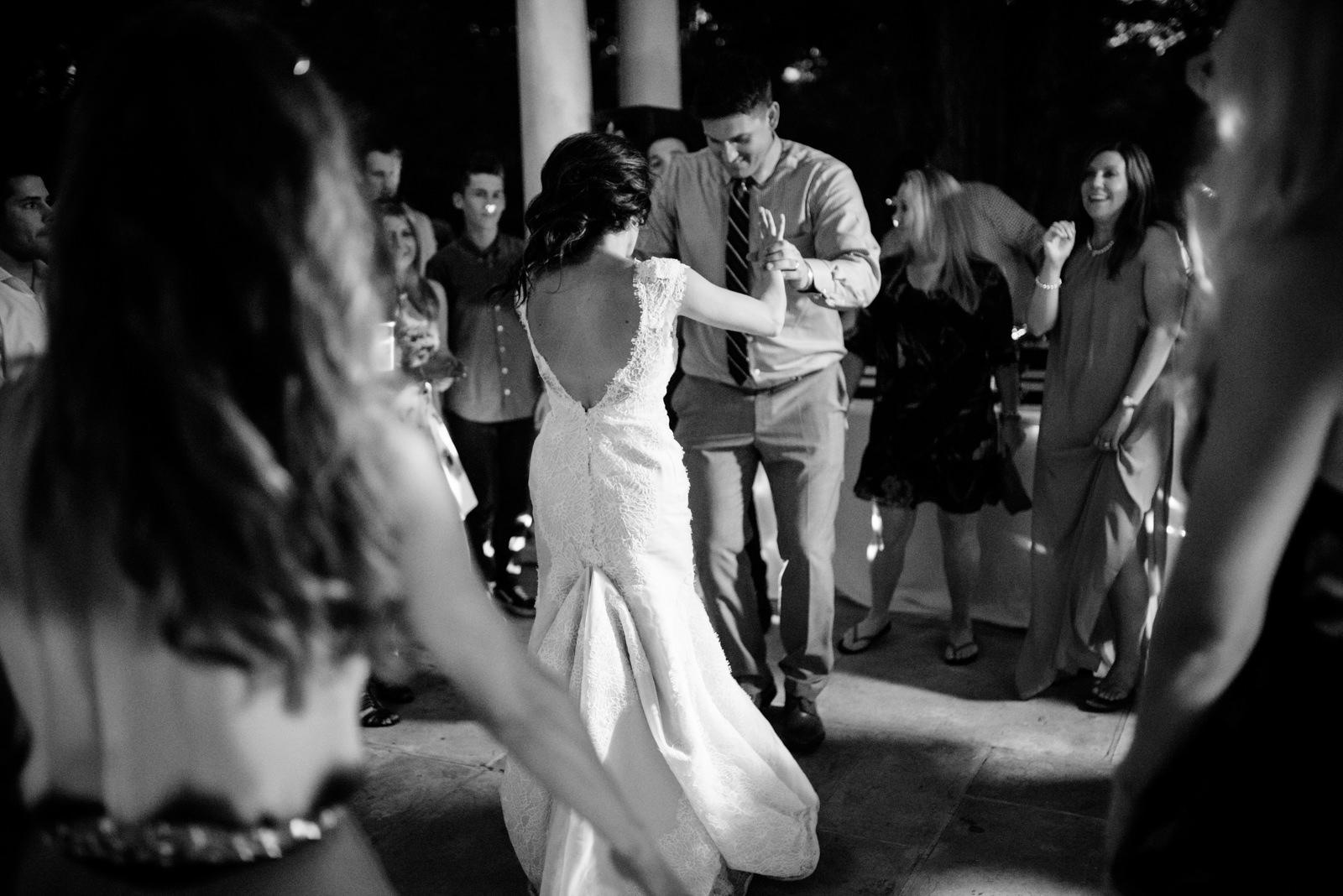 bride groom dancing wedding reception gaines estate fayetteville wv wedding