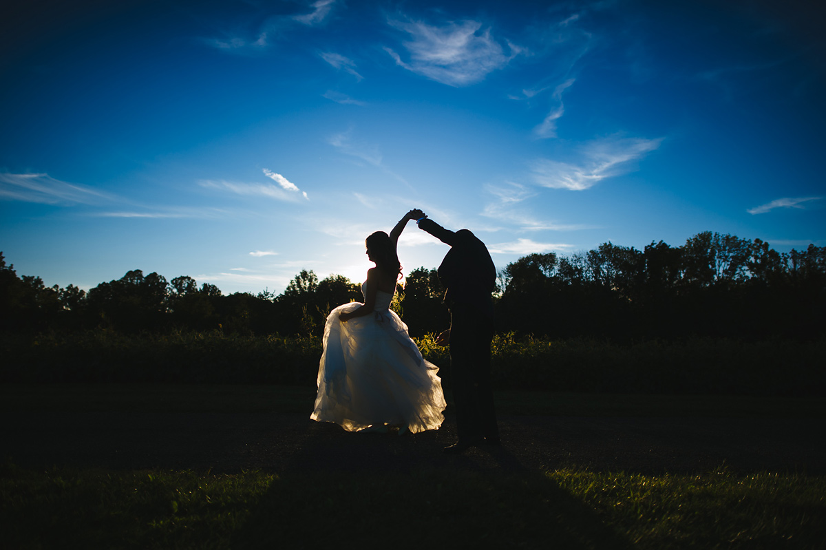 first dance photos at sunset twirl