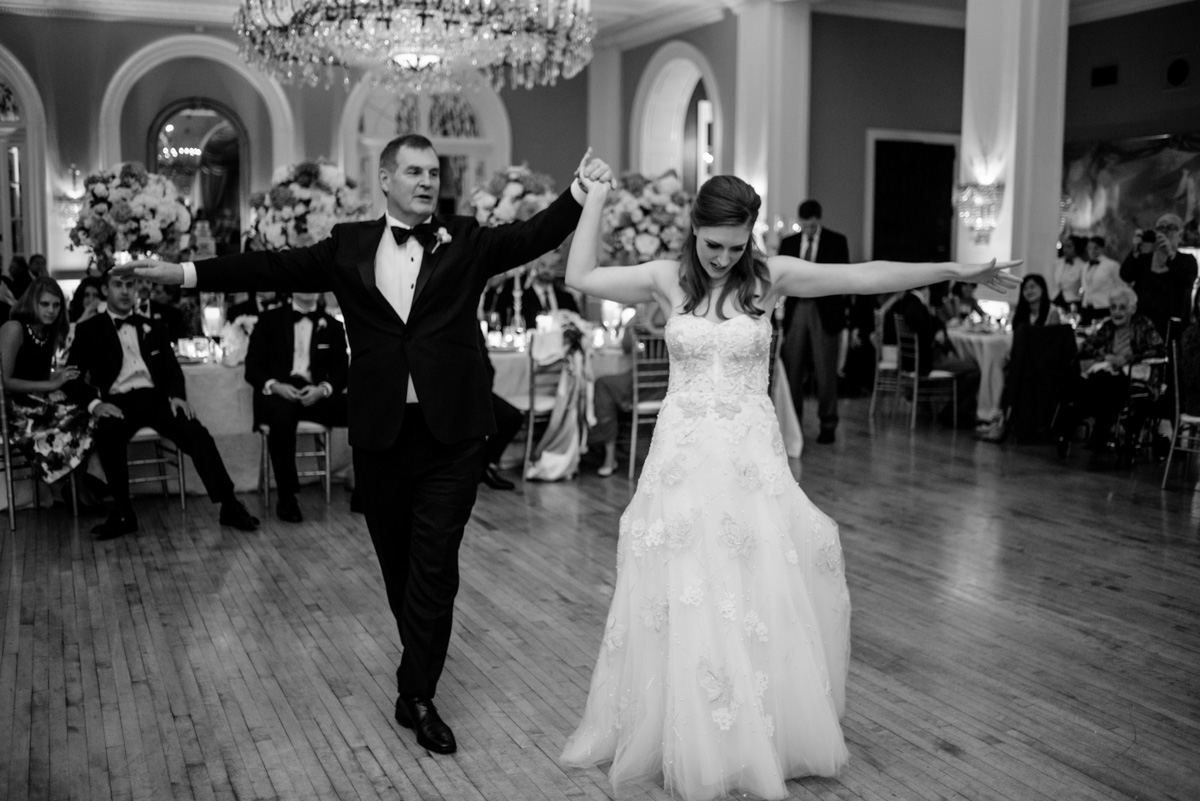greenbrier resort wedding reception father daughter dance