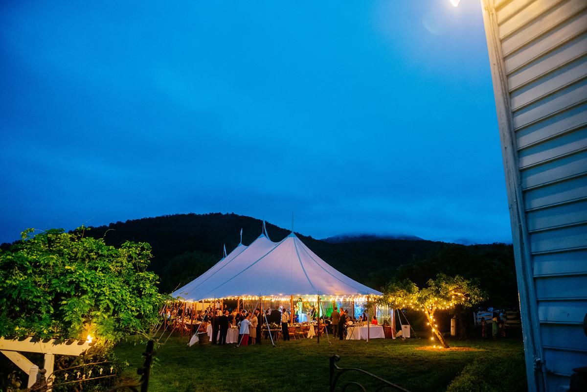 pharsalia virginia wedding reception foggy mountains