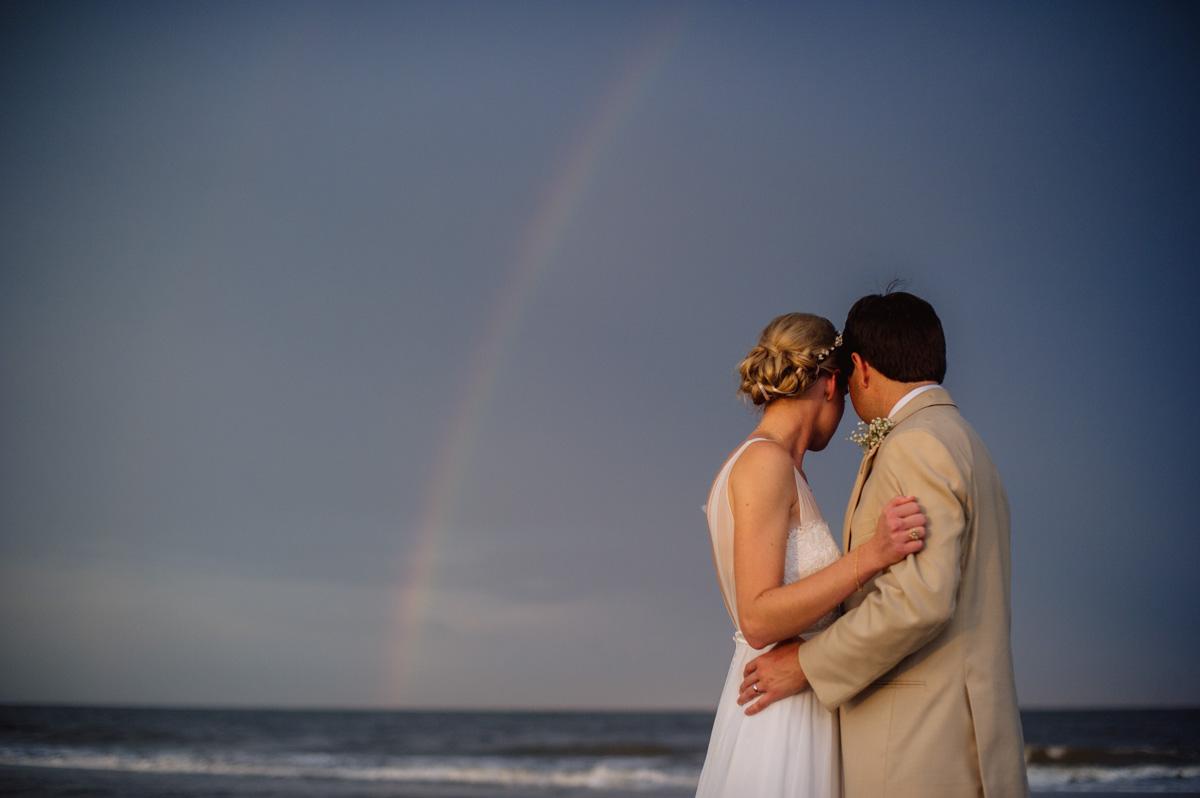wedding day rainbow portraits