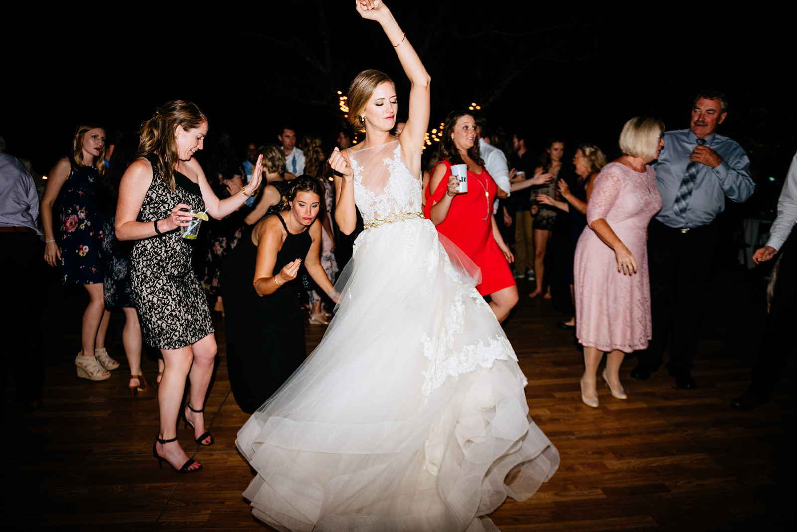 bride dancing during wedding reception
