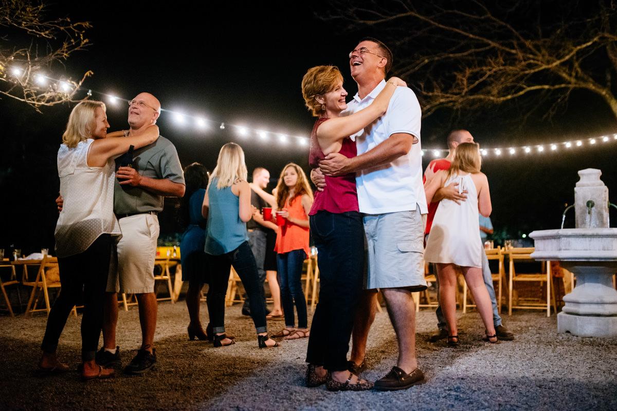 couples dancing jq dickinson saltworks wedding reception