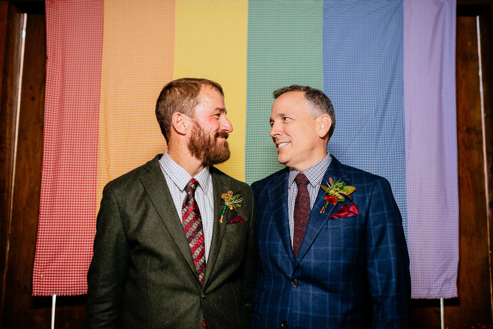 gay rainbow quilt wv farm wedding