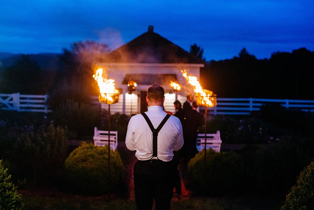pharsalia virginia wedding fire sticks