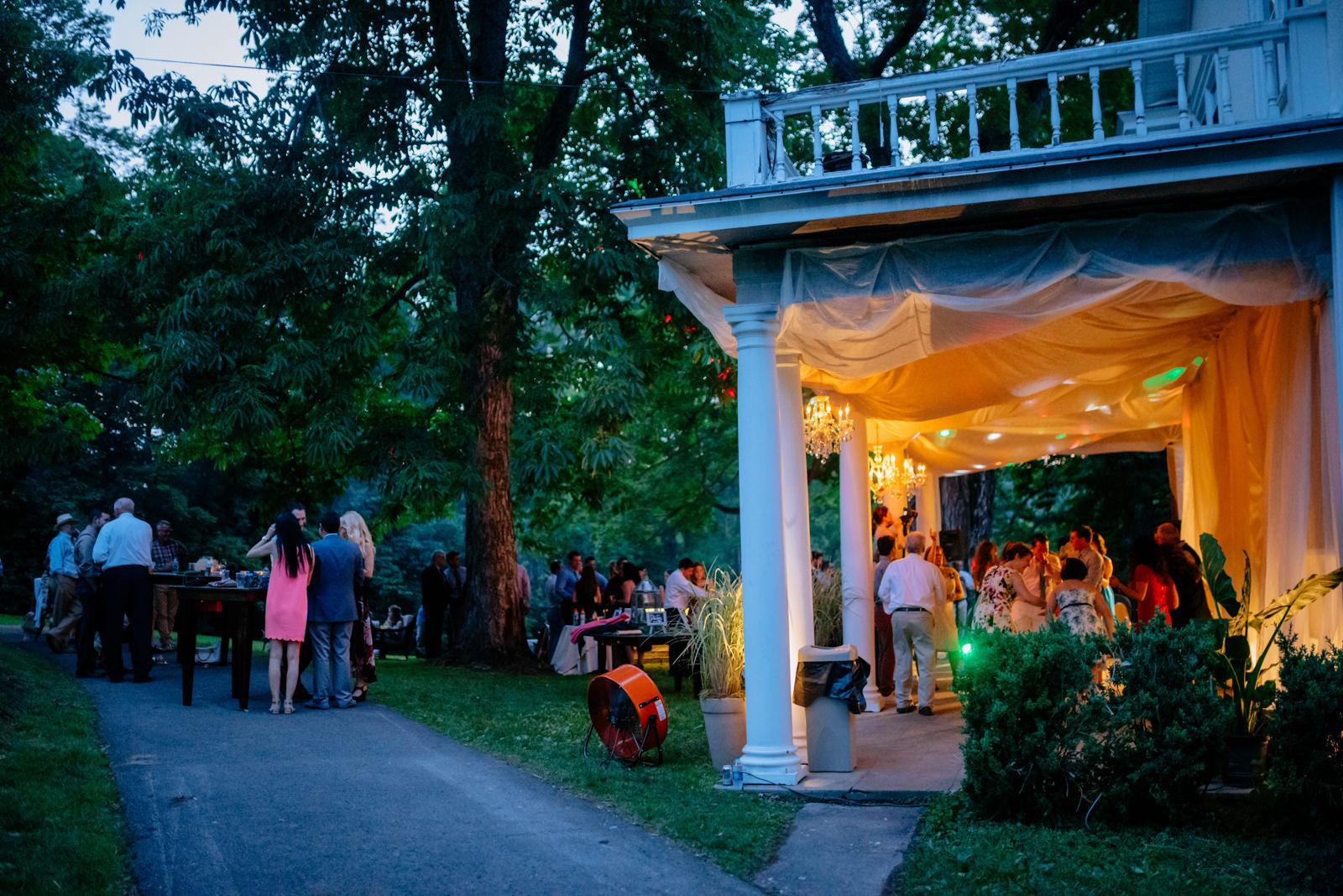 wedding reception gaines estate fayetteville wv wedding