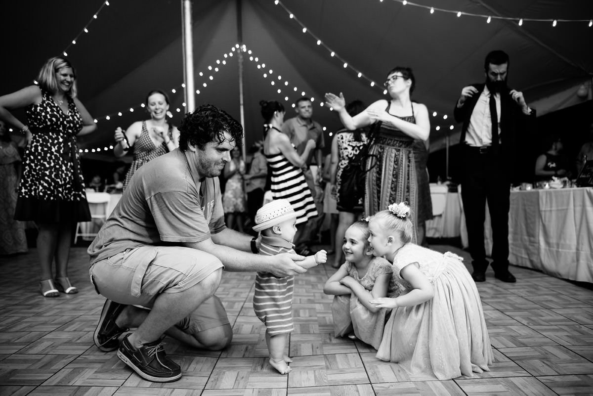 confluence resort wedding reception kids dancing