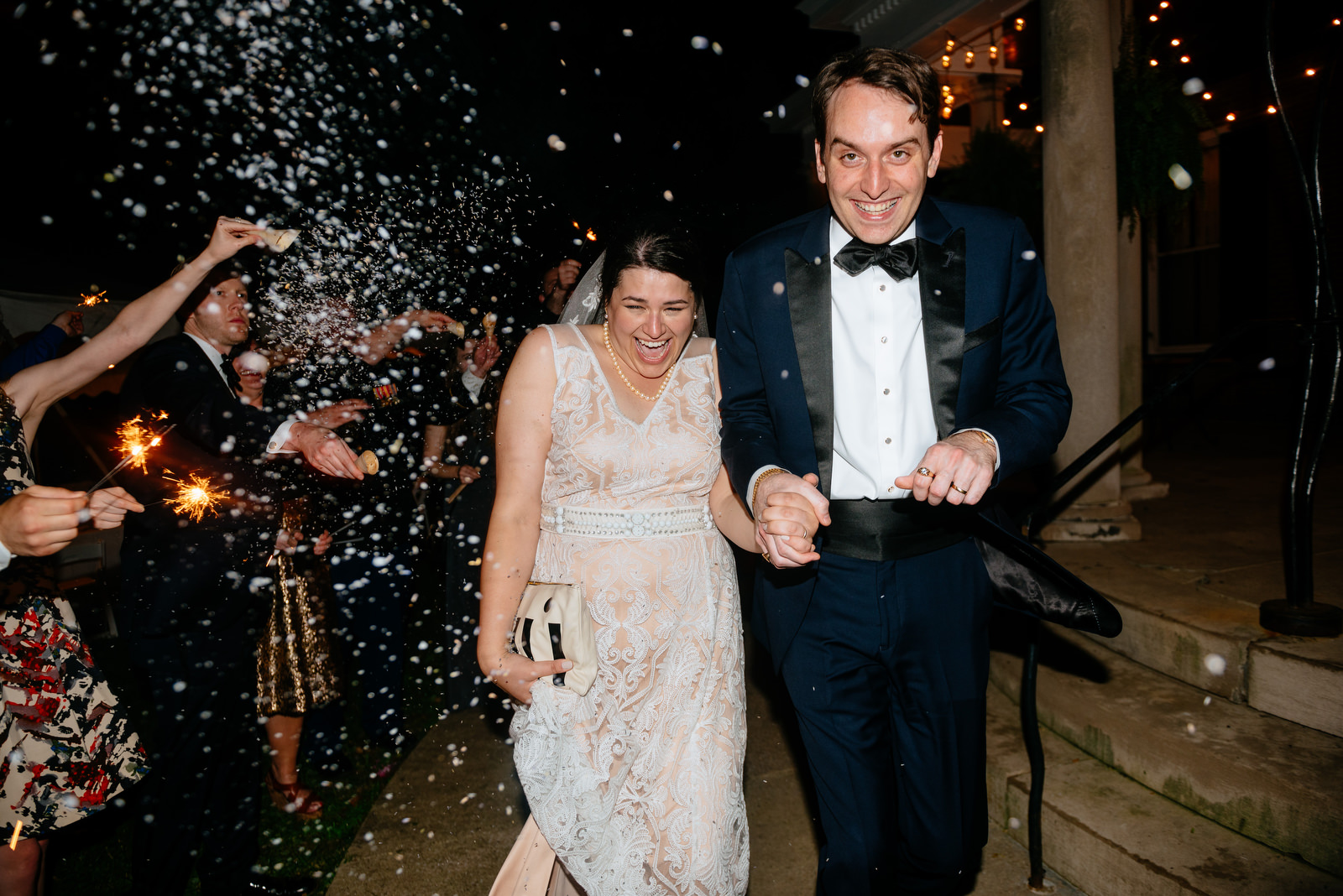 reception sendoff bird seed sparkler exit holly hill inn wedding lexington ky