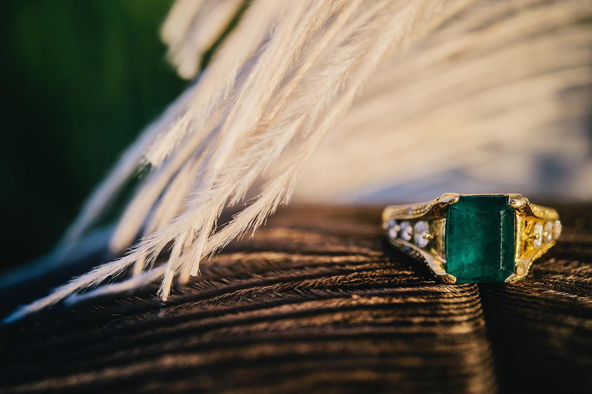 blackwaterfalls wedding emerald engagement ring