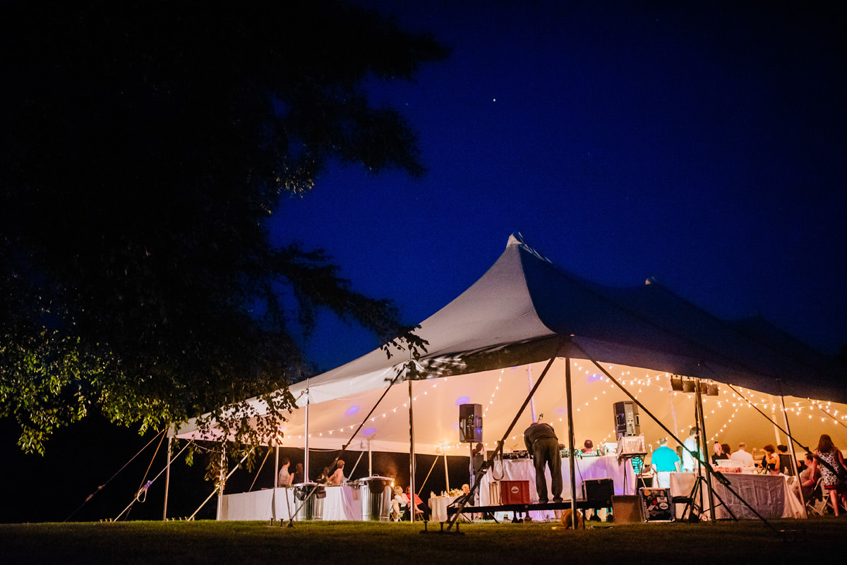 confluence resort wedding reception dancing tent