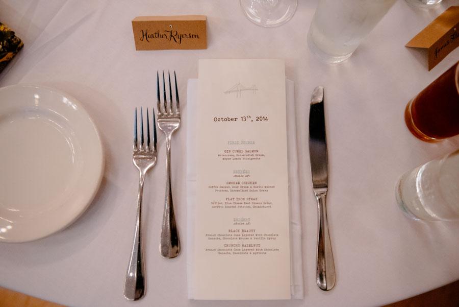 071b DIY calligraphy and menu portland oregon wedding
