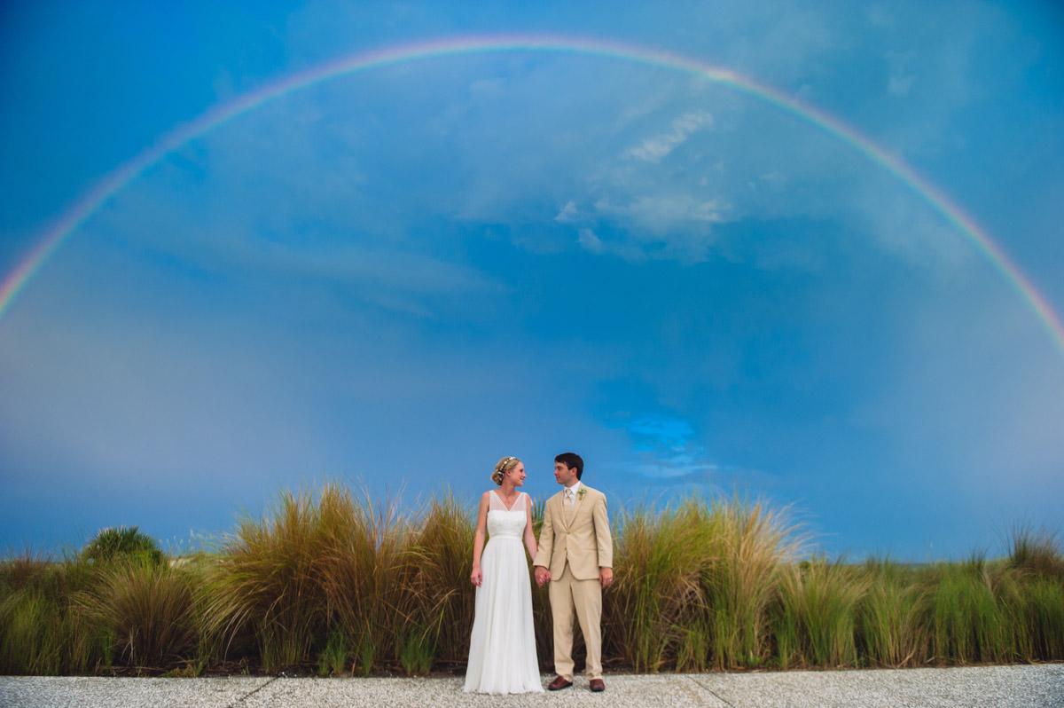 wedding day rainbow