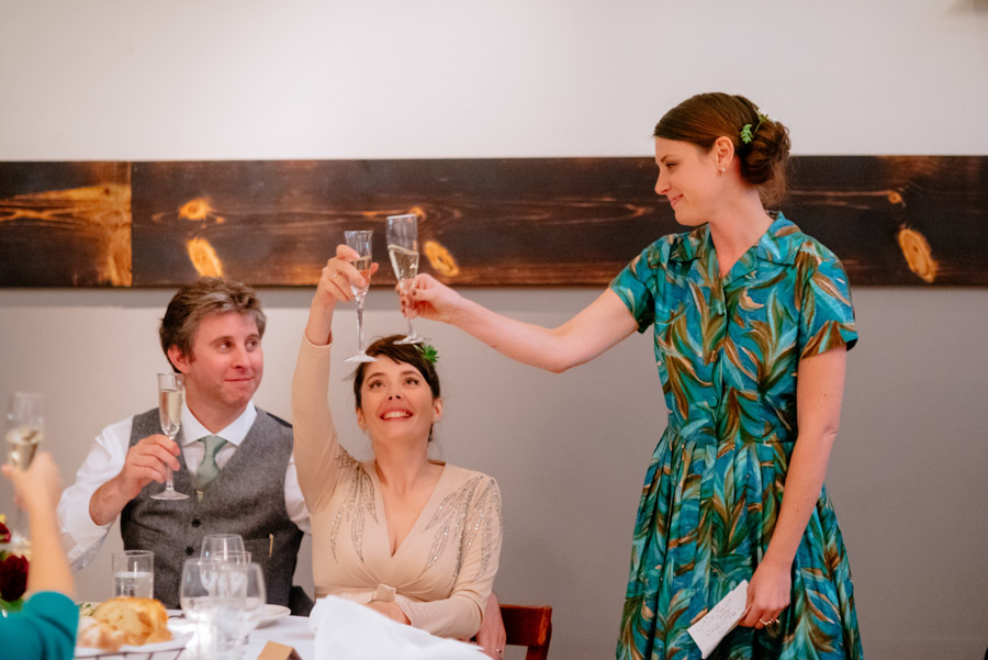 bride groom toasting wedding reception paragon portland by wv photographers the oberports