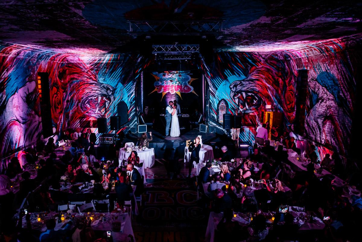 first dance at wedding reception culture house dc washington dc