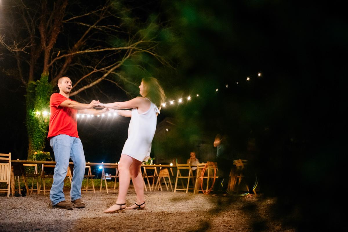 bride groom dancing jq dickinson saltworks wedding reception charleston west virginia