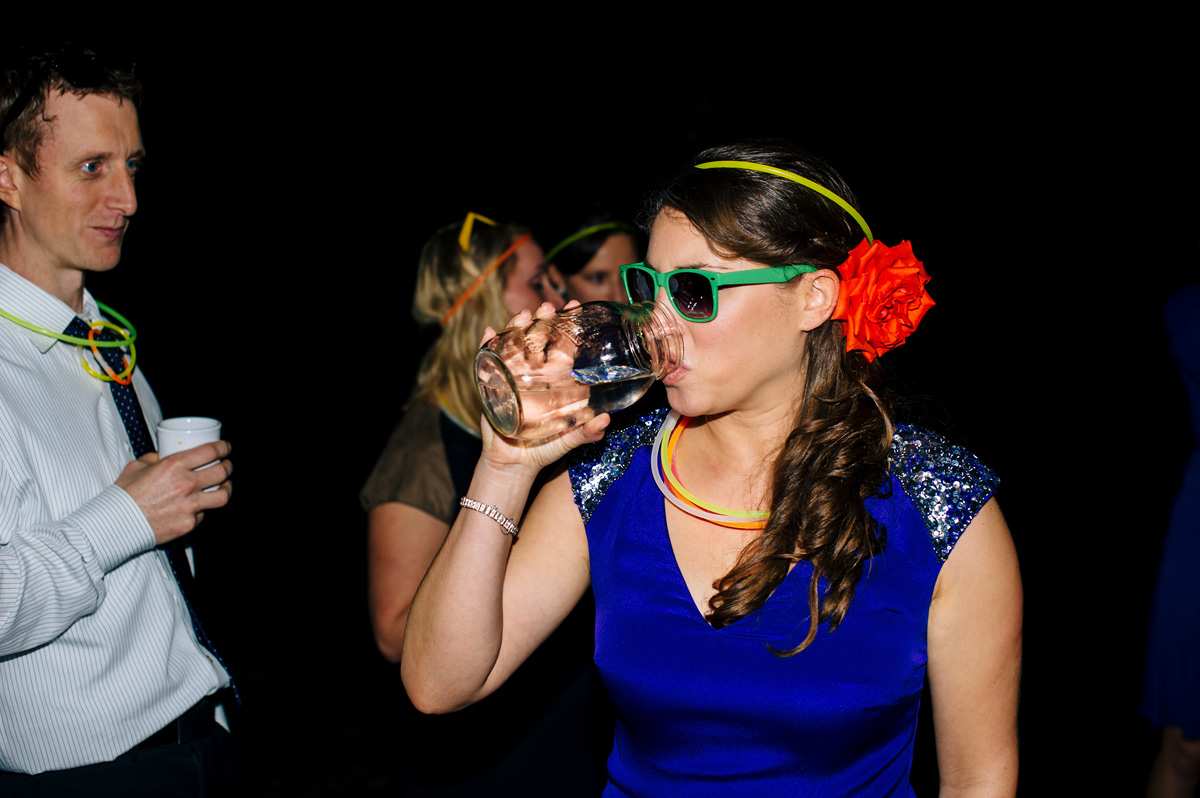 bride drinking moonshine