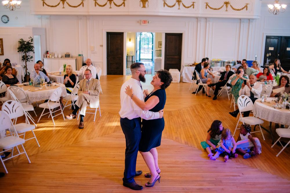 charleston wv womans club wedding reception mother son dance