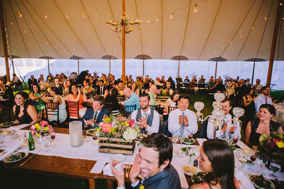 outdoor wedding reception toasts