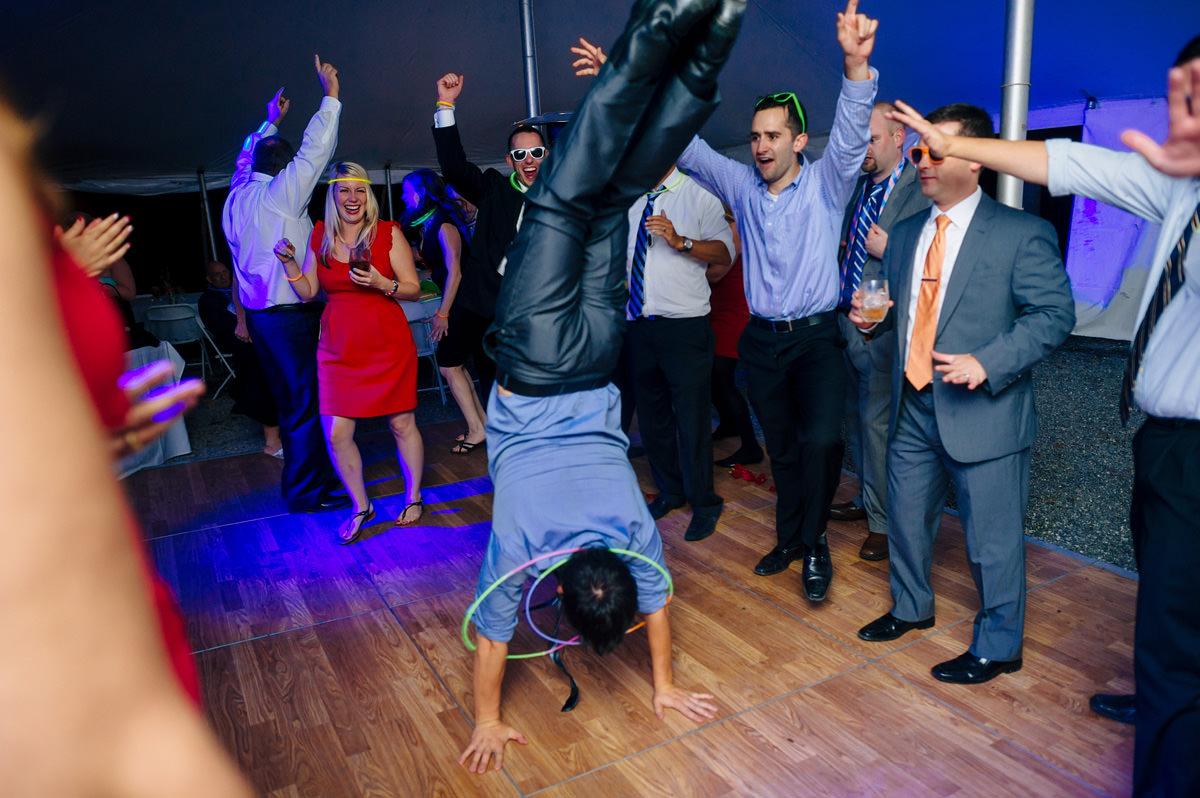 handstand on dance floor