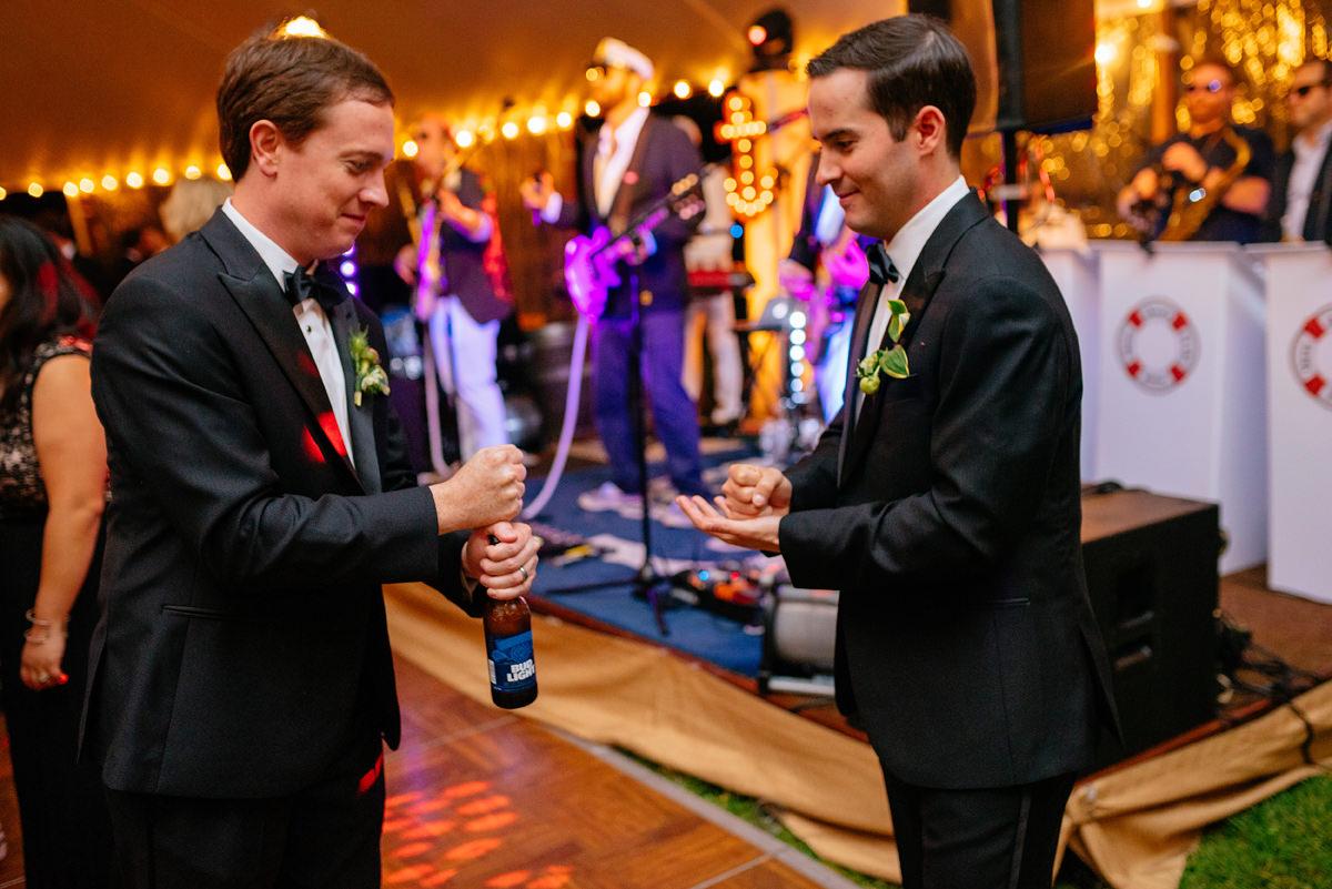rock paper scissors wedding reception