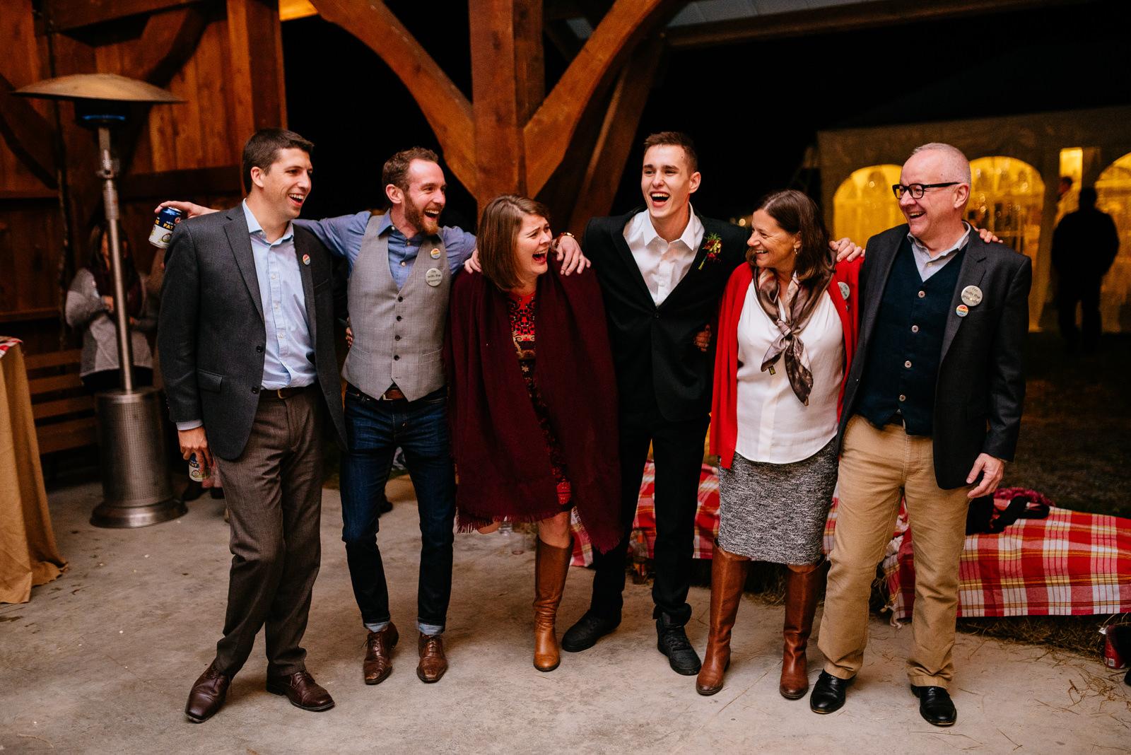 happy guests wv farm wedding