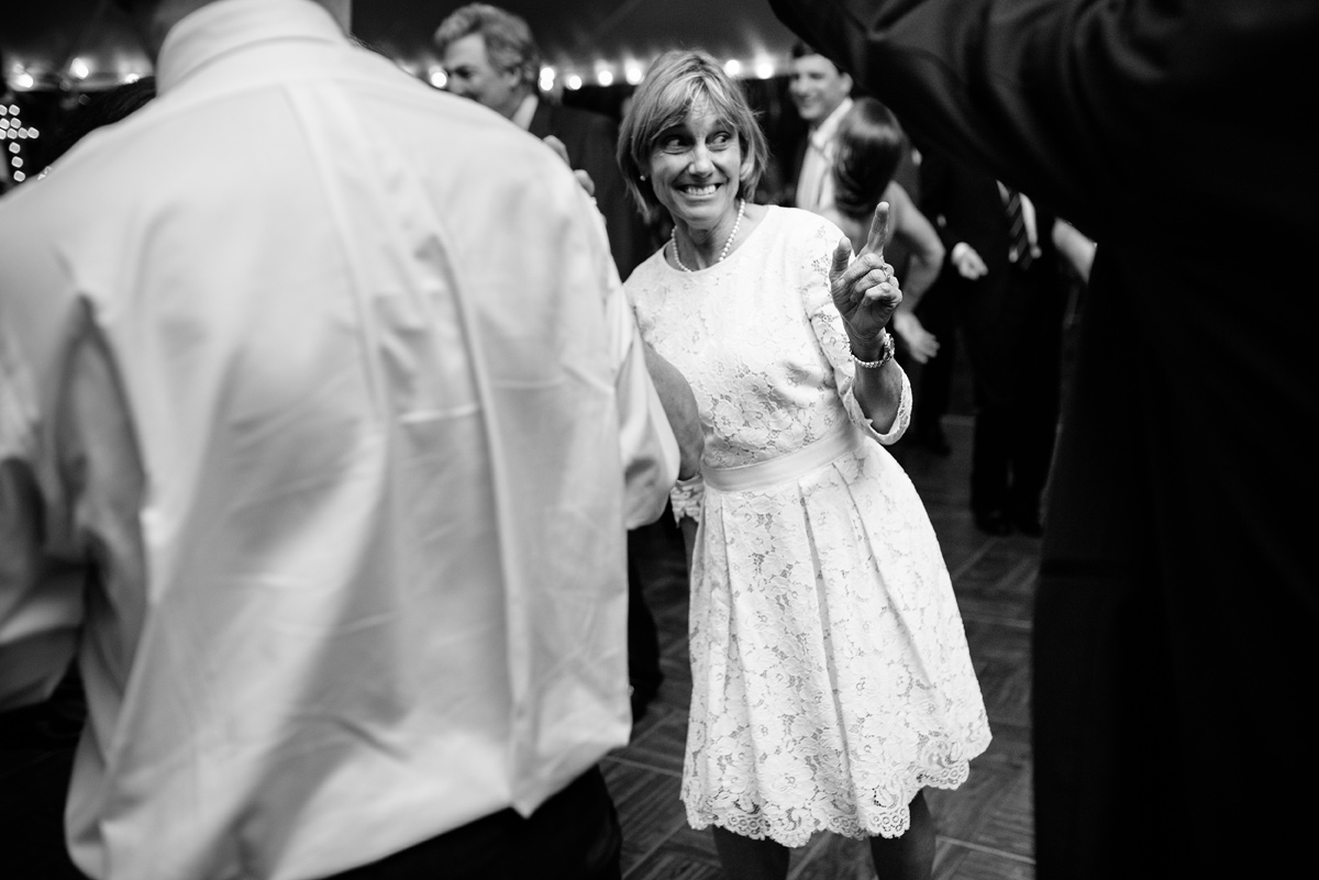 mother of the groom dancing at wedding reception