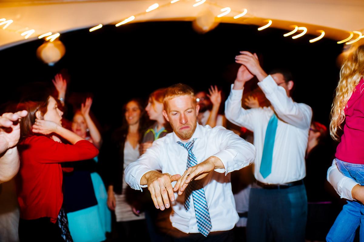 groom getting down on the dancefloor