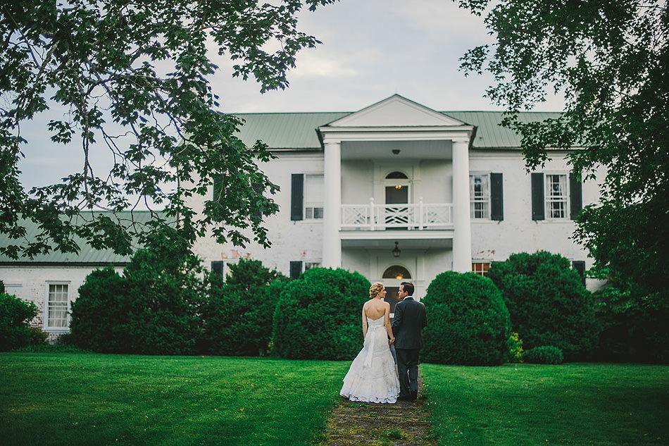 lewisburg swift level farm wedding bride groom dusk