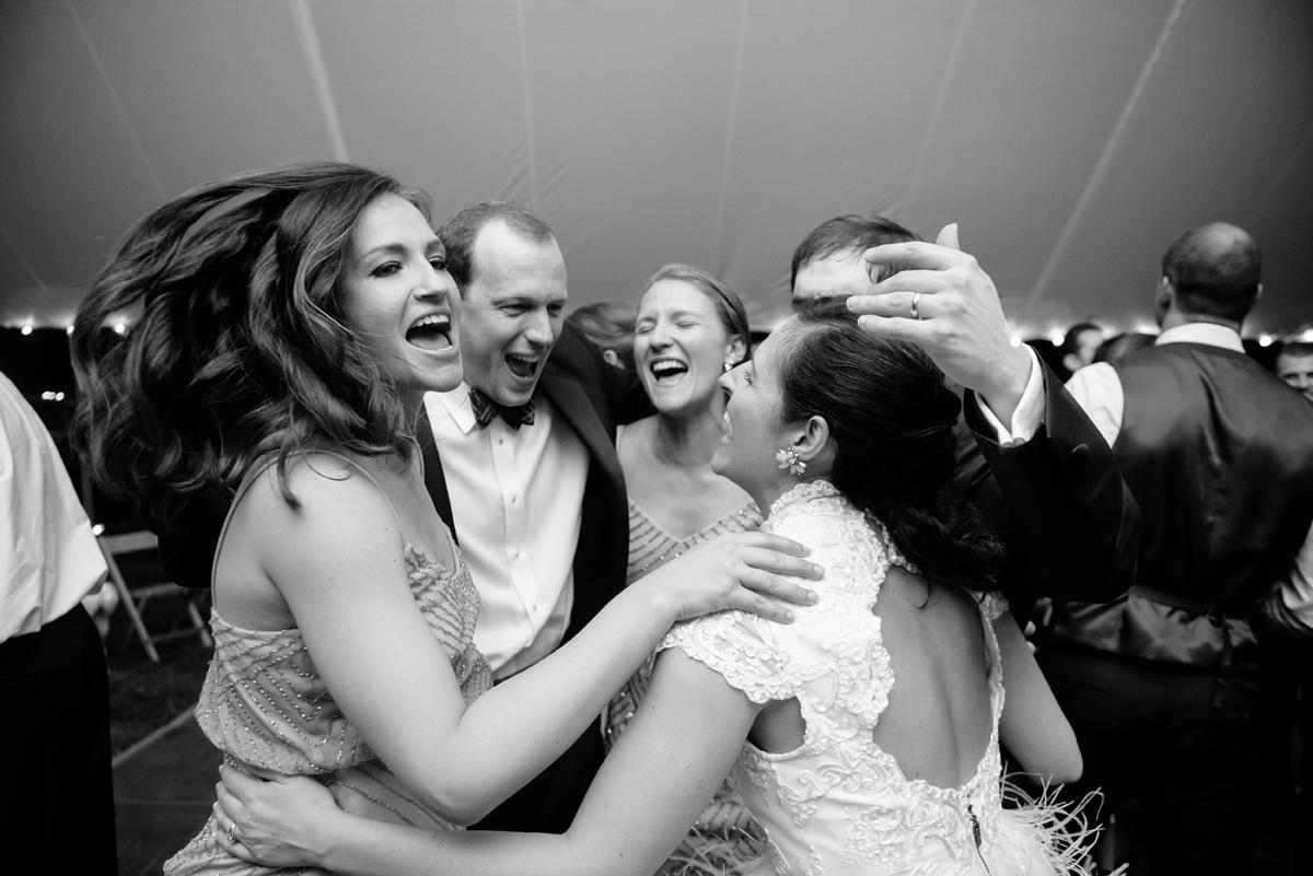 huddle up and jump wedding reception